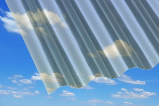 Polyester corrugated sheets
