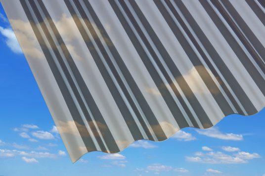 PVC corrugated sheets, bronze
