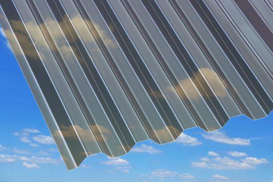 PVC corrugated sheets, trapeze, bronze