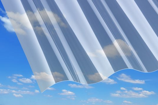 PVC corrugated sheets, P8, clear