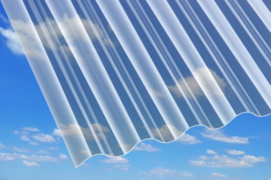 1.5 mm acrylic corrugated sheets, clear
