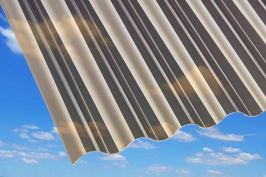 1.5 mm acrylic corrugated sheets, bronze