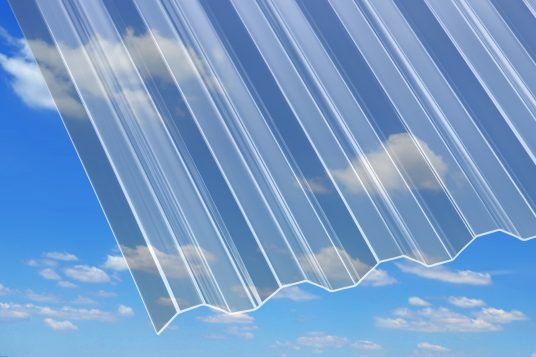 1.5 mm acrylic corrugated sheets Acryl 1,5 mm, trapeze, clear