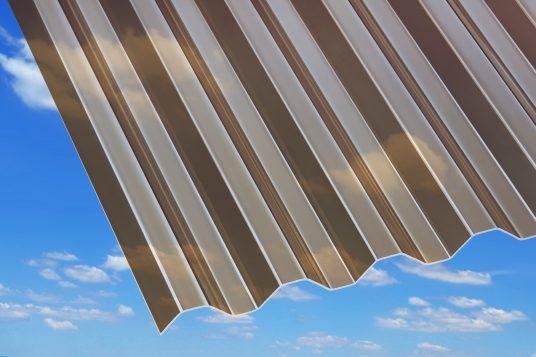 1.5 mm acrylic corrugated sheets Acryl 1,5 mm, trapeze, bronze
