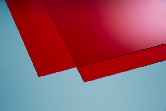 Acrylic glass colored red