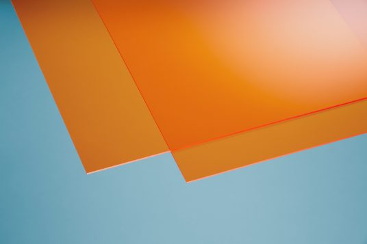 Acrylic glass colored orange