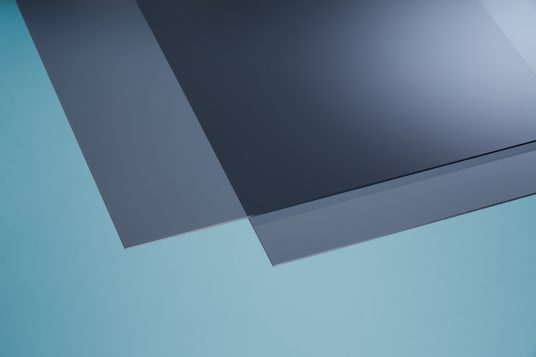 Acrylic glass colored grey