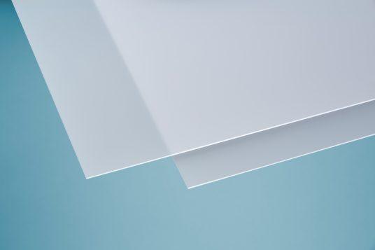 Acrylic glass softtone white