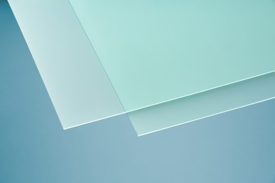 Acrylic glass softtone green