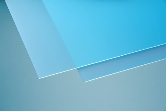 Acrylic glass softtone blue