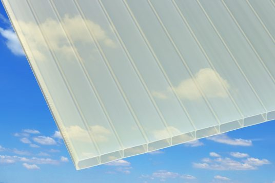 Acrylic wall sheets, with heat protection