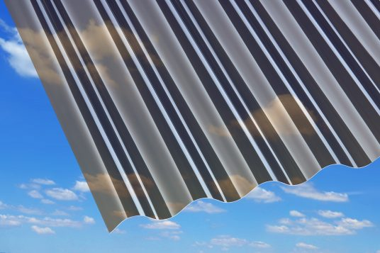 Polycarbonate corrugated sheets 0.8 mm, bronze
