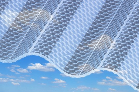 Polycarbonate corrugated sheets 2,6 mm, honeycomb clear