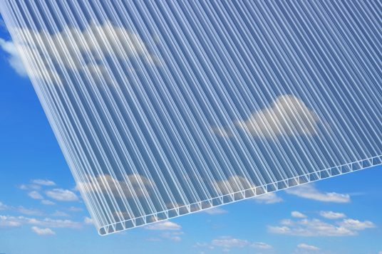 Polycarbonate wall sheets 10 mm, clear
