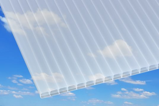 Polycarbonate wall sheets 16 mm, white opal