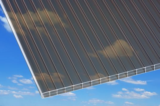 Polycarbonate wall sheets 16 mm, bronze