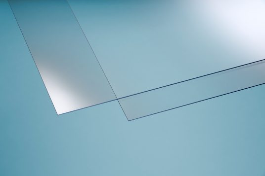 Polystyrene glass, smooth, clear, 2,5 mm