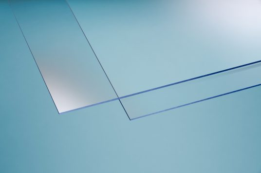 Polystyrene glass, smooth, 5 mm clear