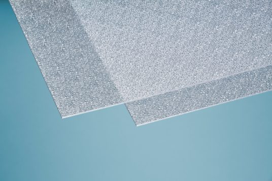 Polystyrene glass, crystal, 5 mm clear