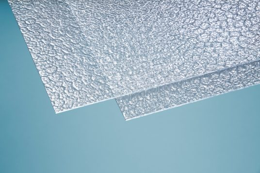 Polystyrene glass, honeycomb, 5 mm clear