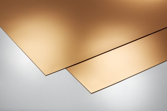 Self-adhesive decorative panels, gold, flat