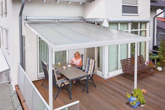 Terrace roofing kit 3,06 x 4,06 m white