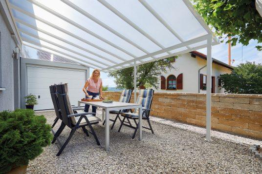 Terrace roofing kit 5,46 x 4,06 m white