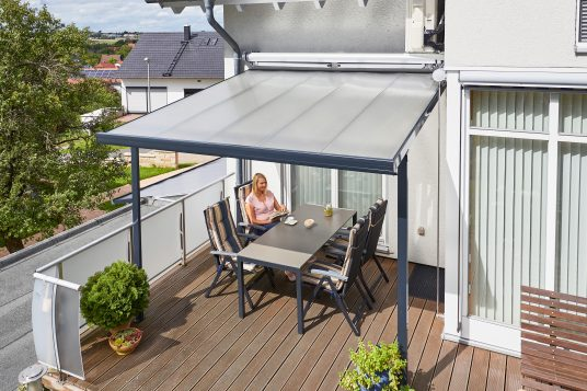 Terrace roofing kit 3,06 x 3,06 m anthrazite