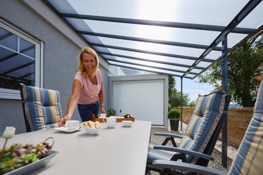 Terrace roofing kit 5,46 x 3,06 m, anthrazite