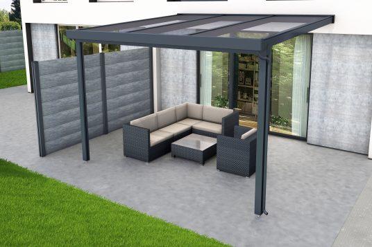 Premium terrace roof kit antracite 3x3m