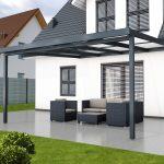 Premium terrace roof kit anthracite 4x4m