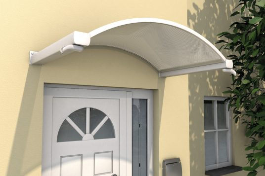 Arched canopy NO, white clear
