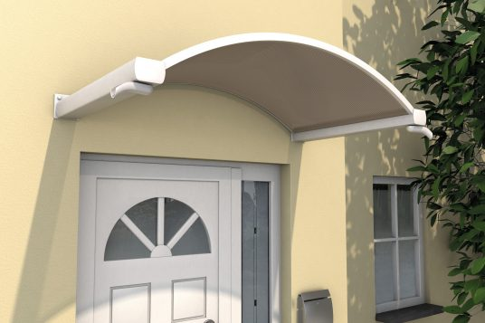 Arched canopy NO, white bronze