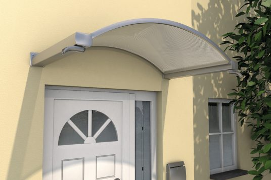 Arched canopy NO, stainless steel look clear