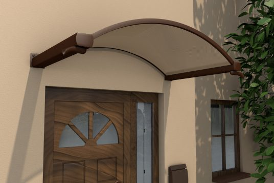 Arched canopy NO, brown, clear