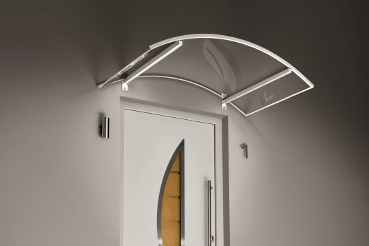 Arched canopy LED white