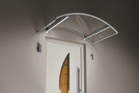 Arched canopy LED, stainless steel finish