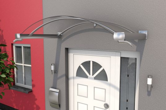 Arched canopy BV/B 160 stainless steel finish