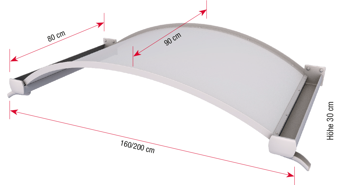 Oval arch canopy OVB dimensions