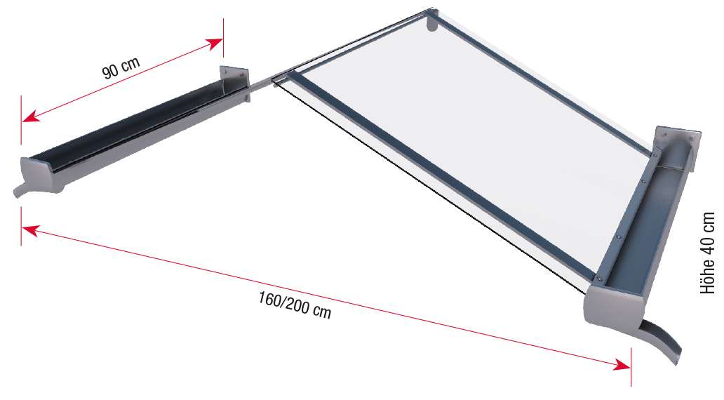Gable canopy dimensions