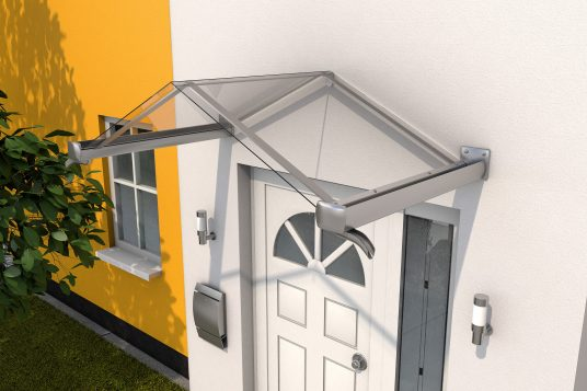 Gable canopy GV/T 160 stainless steel look