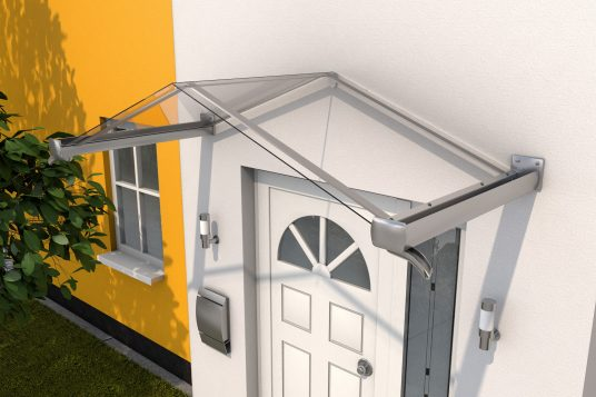 Gable canopy GV/T 200, stainless steel look