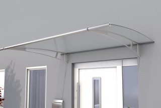 Canopy PT/XL, stainless steel, clear