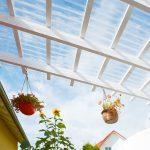 Terrassendach mit Wellplatten Acryl klar