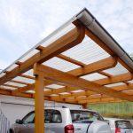 Carport mit Wellplatten Acryl klar