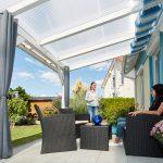 Terrassendach mit Stegplatten Acryl