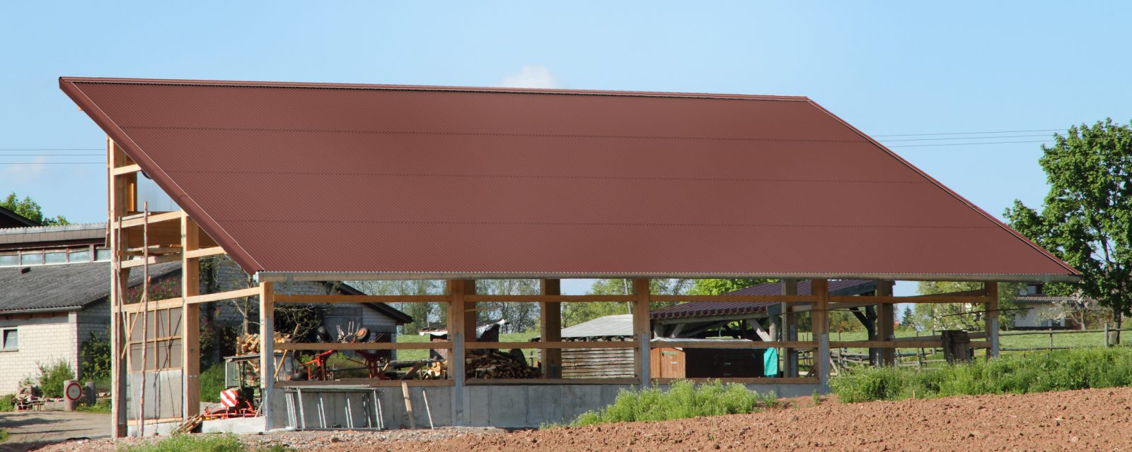 gutta corrugated bitumen sheets brown