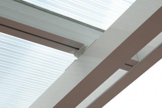 Terrace roofing/Premium Carport, white, detail