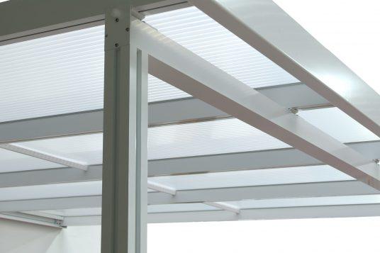Premium terrace roofing, detail