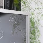 Cabinet doors with decorative panels self-adhesive